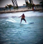 Surfing on Juan Dolio Beach