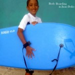 Ready for body boarding on Juan Dolio Beach