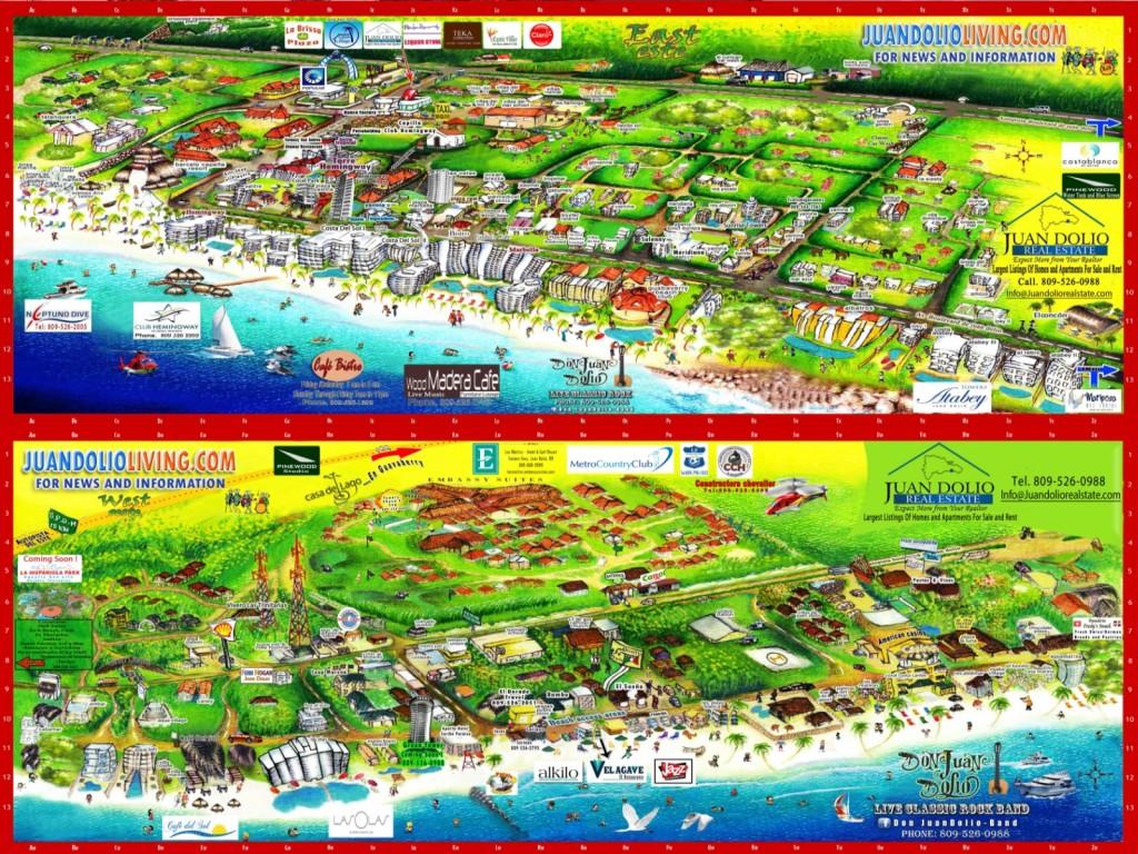 Map of juan Dolio